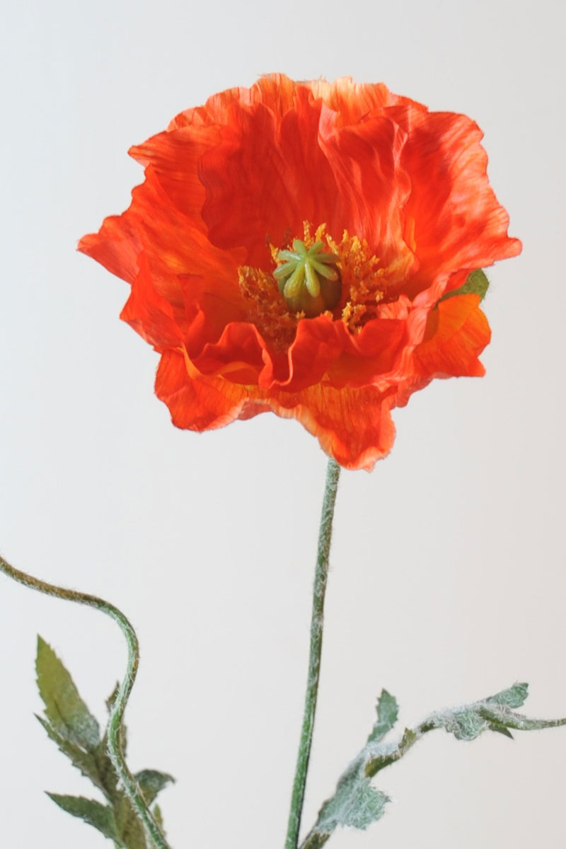 fleur-artificielle-pavot-orange-2