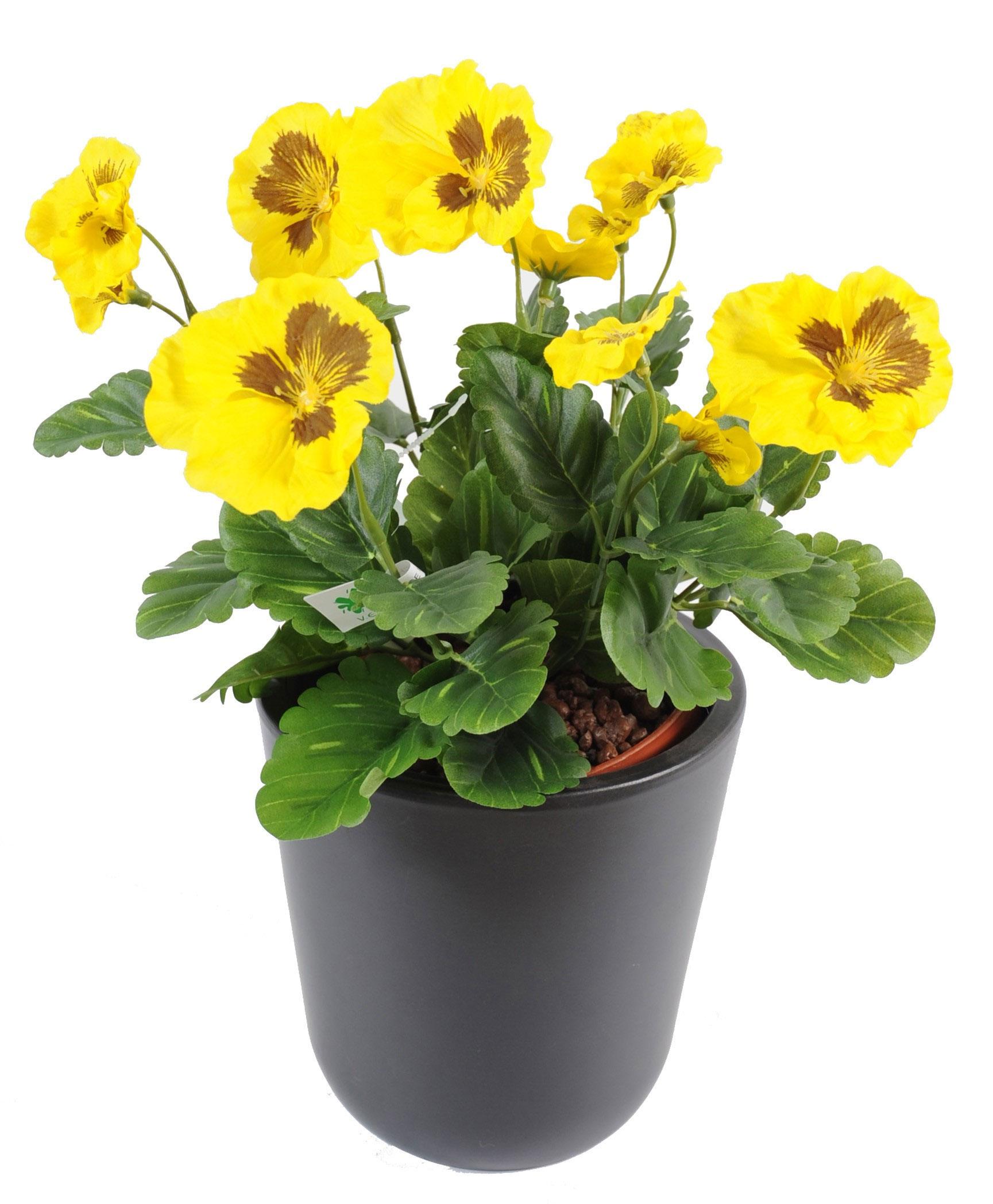 plante-artificielle-fleurie-pensee-jaune-1