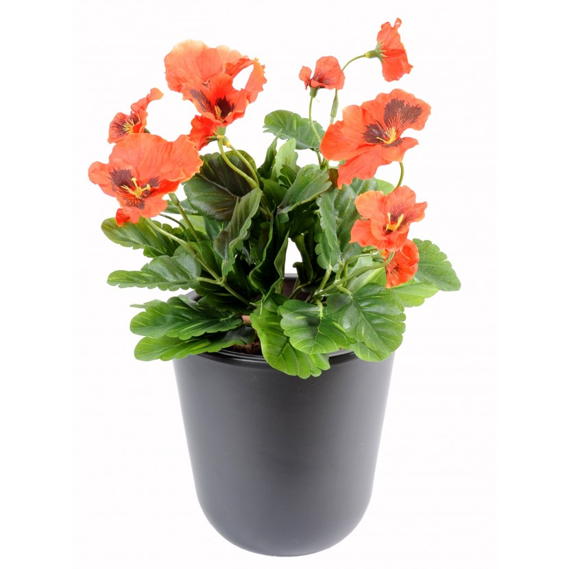 plante-artificielle-pensee-orange-1